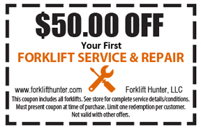 forklift repair Foley AL Coupon