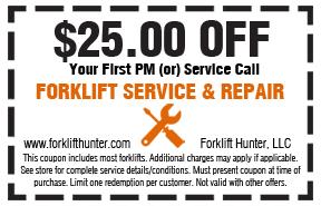 Coupon forklift repair Pensacola FL